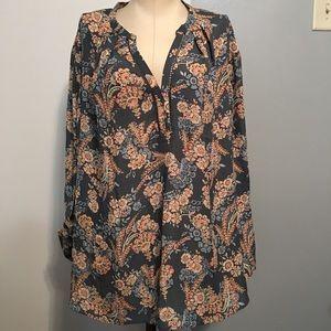 """Meera Lane Plus Size slinky 3/4 """" sleeves. Blouse"""